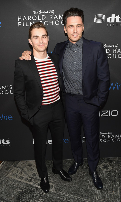 Dave Franco was a supportive brother to James at the IndieWire Honors, where the <i>Deuces</i> actor won the Vanguard Film Award. The event took place at The Harold Ramis Film School at The Second City in L.A.