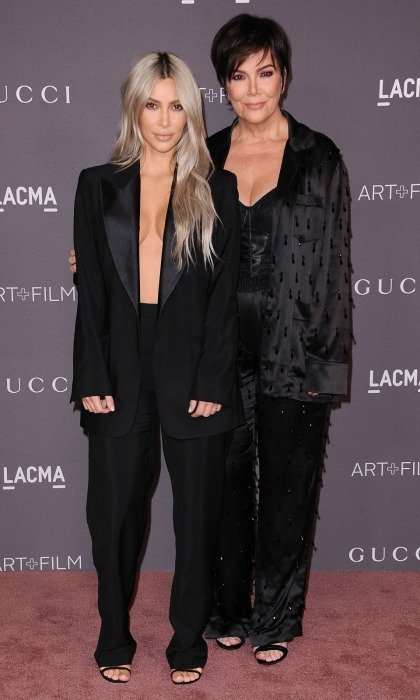 Meanwhile, Melanie's good friend Kris Jenner and her daughter Kim Kardashian went a bit more minimal for the LACMA Art + Film Gala. The <i>Keeping Up with the Kardashians</i> star showed some skin in an oversized black blazer and trousers by Tom Ford for Gucci. Her momager, who was celebrating her birthday weekend, also wore a black satin suit.