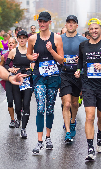 Karlie Kloss was a winner as she ran her first TCS NYC Marathon. The supermodel wore adidas by Stella McCartney for the 26.2 venture.