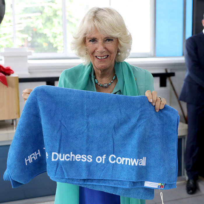 On November 4, Camilla, Duchess of Cornwall saw first hand the work of the Lost Food Project and Lighthouse Children's Welfare Centre in Kuala Lumpur, Malaysia. The royal was also gifted with a special personalized present – a towel  emblazoned with her name. 