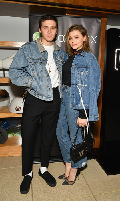 Brooklyn Beckham and Chloe Moretz are definitely back to being game on! The couple, who recently reunited, matched in denim during the Xbox One X launch event in NYC on November 6.