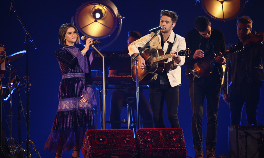 Niall Horan turned a little bit country for the CMAs when he joined Maren Morris on stage to perform their duet <i>Seeing Blind</i>. 