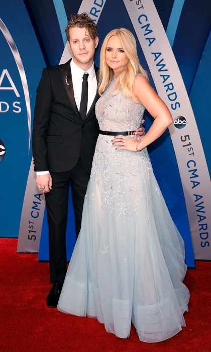 Miranda Lambert looked like she stepped off the set of <i>Frozen</i> and on to the CMAs red carpet in her icy blue, embroidered Tony Ward gown. She put her own spin on the dress by adding a black belt and kept her hair in loose waves.