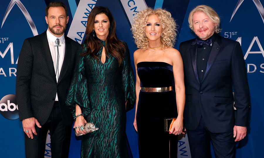 Little Big Town (Jimi Westbrook, Karen Fairchild, Kimberly Schlapman, and Philip Sweet) dazzled on the red carpet and on stage. The foursome also accepted the Song of the Year Award for their friend Taylor Swift, who won for their song <i>Better Man</i>. 