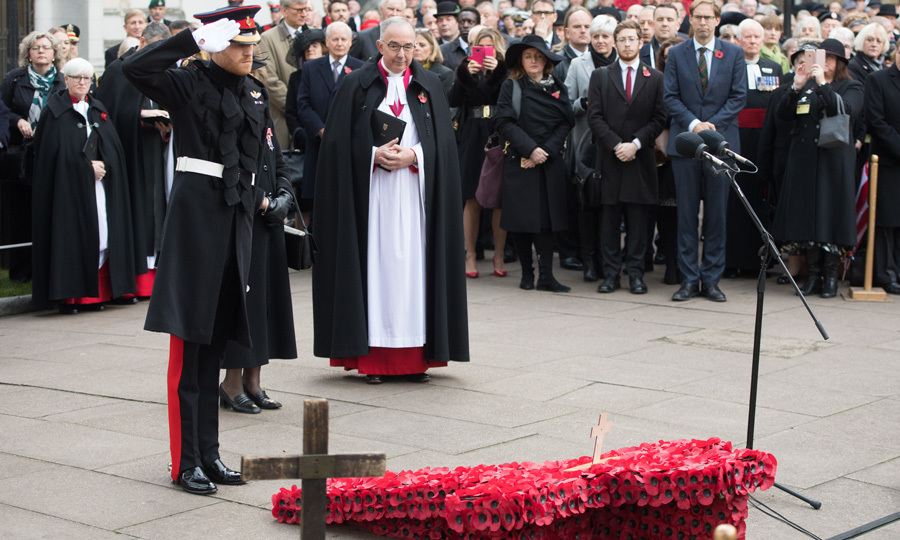 "Prince Harry paid his respects at Westminster Abbey's Field of Remembrance on November 9. During the outing, the Queen's grandson spoke to bomb disposal expert Matt Weston about hiding his American love, Meghan Markle. ""I took the mickey and asked where his missus was and [Harry] said she wasn't here. I asked if she would come next time because she's awesome, and he said he couldn't hide her anywhere, but I said you wouldn't have to hide her,"" the 28-year-old, who served in Afghanistan, told reporters. ""I would love to meet her – I think she's very cool. [Harry's] a very lucky man and she's brilliant.""
