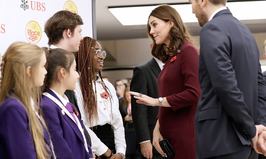 "The Duchess of Cambridge attended the Place2Be School Leaders Forum on November 8. During the engagement, Kate revealed that she is still ""getting used to"" to taking her son Prince George to school. ""As a mother, just getting used to leaving my own child at the school gates, it is clear to me that it takes a whole community to help raise a child,"" she said. 
