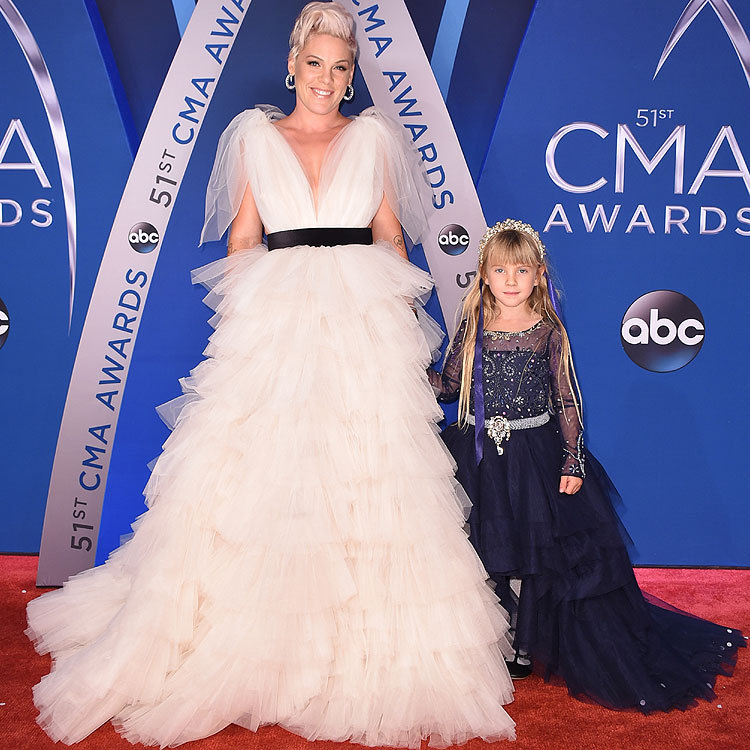 "Mother-daughter duo Pink and Willow Sage stole the show at the CMA awards as they walked the red carpet together in tulle dresses, looking every inch the pair of country princesses. Six-year-old Willow even wore a tiara! Sharing the moment with her daughter made the singer ""happy"", she said in a tweet.