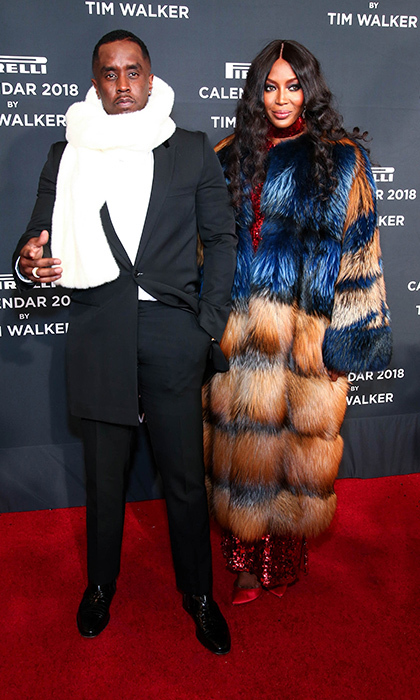 Sean 'Diddy' Combs and Naomi Campbell were the king and queen of the Pirelli Calendar 2018 Launch Gala at The Manhattan Center on November 10 in New York City. The 45th edition of the world famous Pirelli Calendar, shot by renowned snapper Tim Walker, features a retelling of the story of <I>Alice in Wonderland</I> with an all-black cast, sets created by Shona Heath and styling by British Vogue's new editor-in-chief, Edward Enninful.  