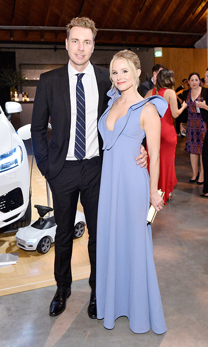 Also making the Baby2Baby fundraiser a date night were parents-of-two Dax Shepard and Kristen Bell. Kristen wore a lavender design by Vika Gazinskaya. 