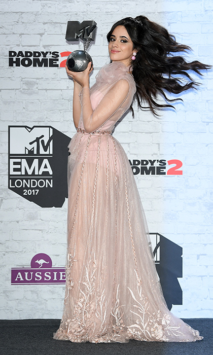 Across the Atlantic in London, the stars turned out for the <b>2017 MTV EMAs</B> on November 12. A windswept Camila Cabello looked like a true pop princess in Ralph & Russo as she picked up her Best Pop Award.