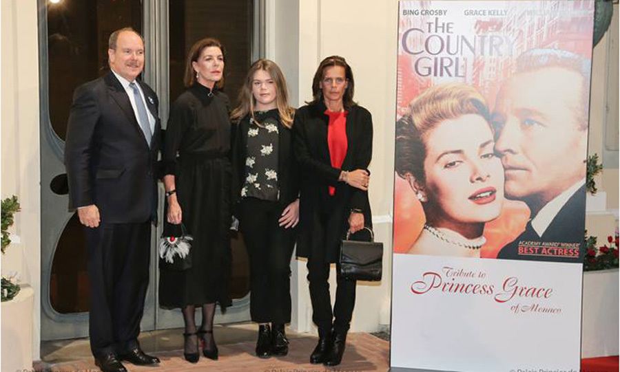Prince Albert, Princess Caroline and Princess Stephanie of Monaco paid tribute to their late mother, Grace Kelly, in the perfect way — screening the film that earned the Princess of Monaco her Academy Award. The actress' children along with her look-alike granddaughter Camille Gottlieb, who is Stephanie's youngest child, came together on the eve of what would have been Grace's 88th birthday.