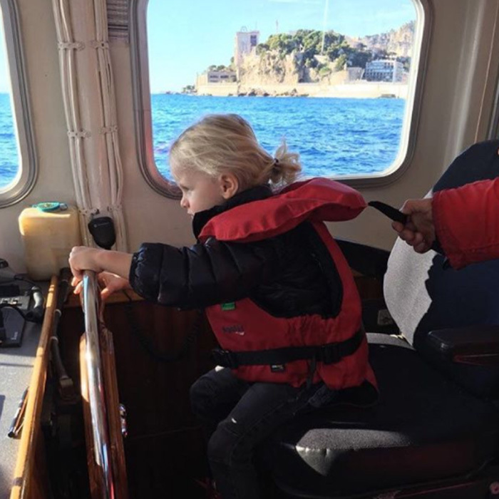 Princess Charlene showed off her skills as a photographer when she snapped her two-year-old son Jacques on board the Maritime Police Boat in Monac. The little royal took the wheel during the outing in November 2017.