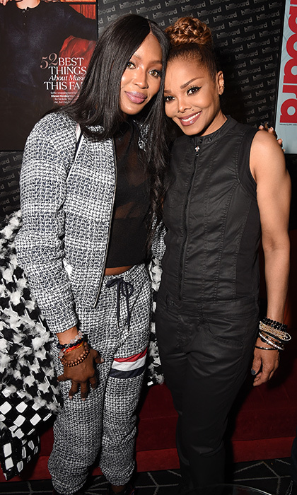 Legends! Supermodel Naomi Campbell met up with Janet Jackson at the pop icon's after party at the Barclays Center Billboard Lounge on November 15 in New York City. Ms. Jackson is in the midst of her 2017 State of the World tour. 