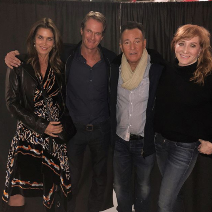 "Cindy Crawford and Rande Gerber went backstage to hang with The Boss and his wife Patti Scialfa while in NYC. The supermodel wrote on Instagram, ""Springsteen on Broadway! Incredible show...""