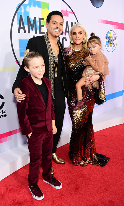 Ashlee Simpson Ross and husband Evan Ross hit the American Music Awards' red carpet with their two-year-old daughter Jagger Snow Ross and her nine-year-old son Bronx Mowgli Wentz, whose dad is rocker Pete Wentz. The night was a family affair in more ways than one since Evan's sister Tracee Ellis Ross was hosting the show and his mom Diana Ross received a Lifetime Achievement Award.