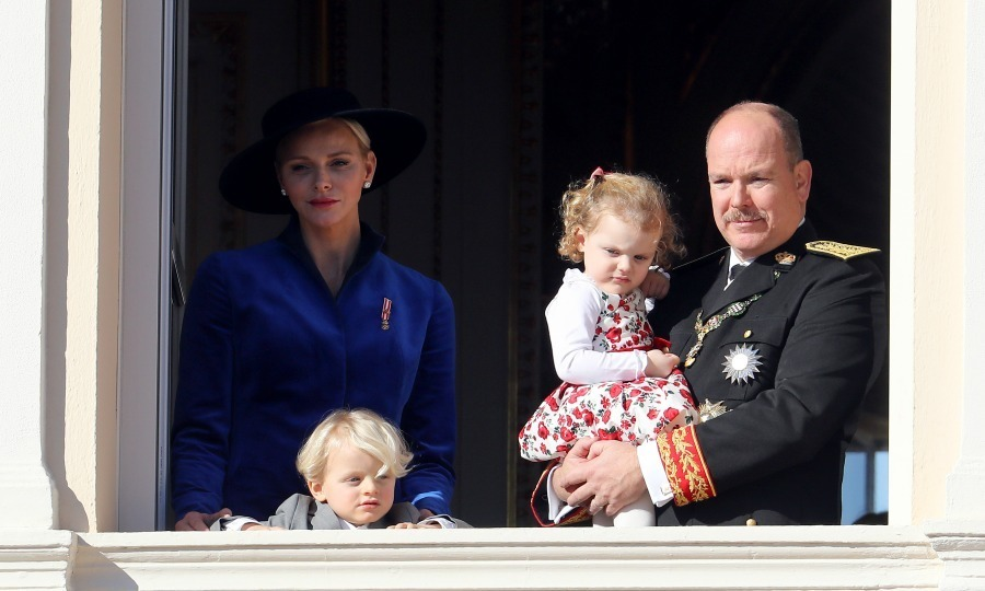 November 2017: Prince Albert, Princess Charlene and their two-year-old twins Prince Jacques and Princess Gabriella were also on display at Monaco's National Day on November 19. The crowd gathered at Prince's Palace of Monaco buzzed with excitement when the royal's adorable twins made a special appearance. While waving from their palace balcony, Albert and Charlene gave fans a special treat by holding up their sweet children for all to see before they took a nap. 