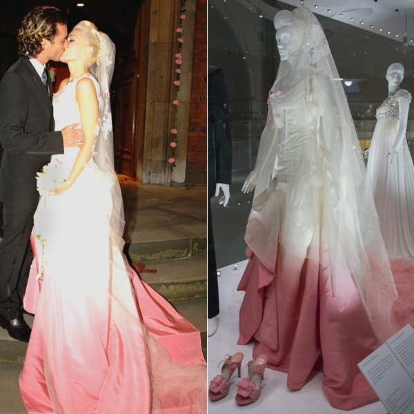 From kate moss to gwen stefani celebrity wedding dresses on that dress marked a shift in the history of the celebratory gown now brides like gwen and dita are leading the charge toward a new trend of color drenched junglespirit Gallery