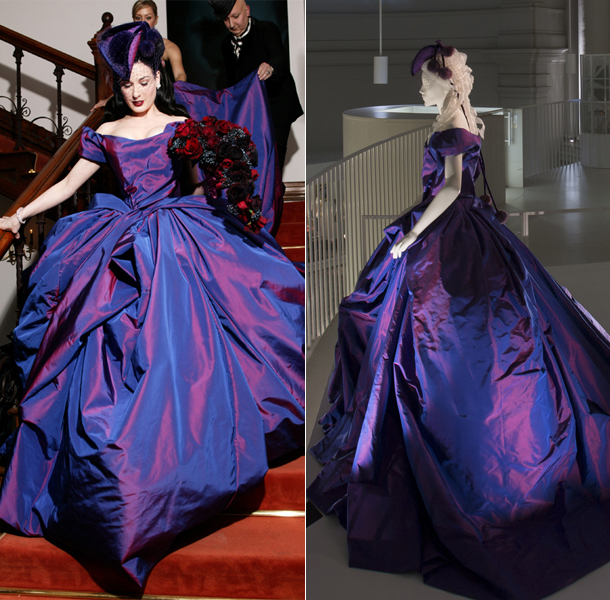 Dita von Teese wedding dress