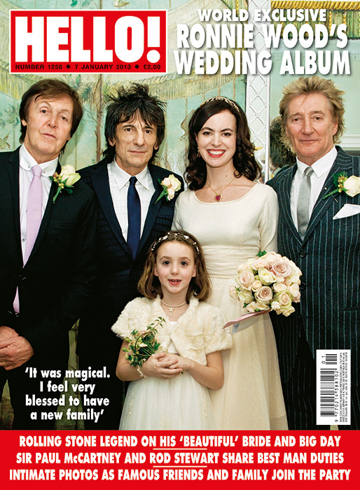 ronnie-wood-hello-magazine-wedding-cover