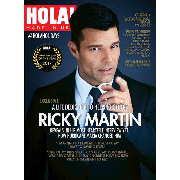 Ricky Martin on the cover of HOLA!