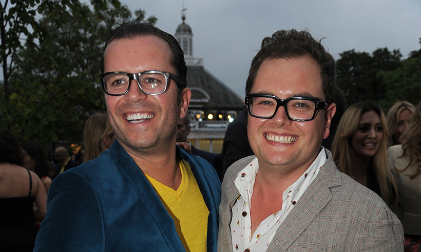 Alan Carr and partner