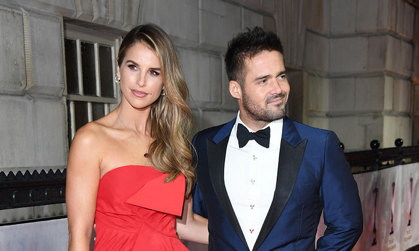 Spencer Matthews and Vogue Williams on red carpet