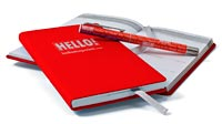 Exclusive limited-edition Hello! slim social diary, by Aspinal of London