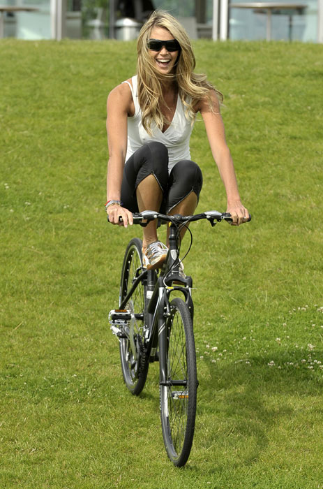 Star pedal power: Celebrities getting on their bikes