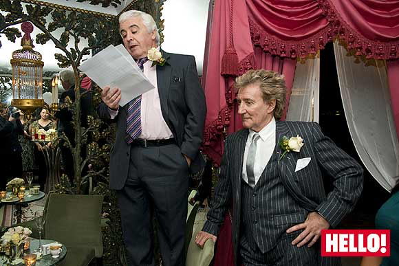 Father of the bride Colin Humphreys and Rod Stewart
