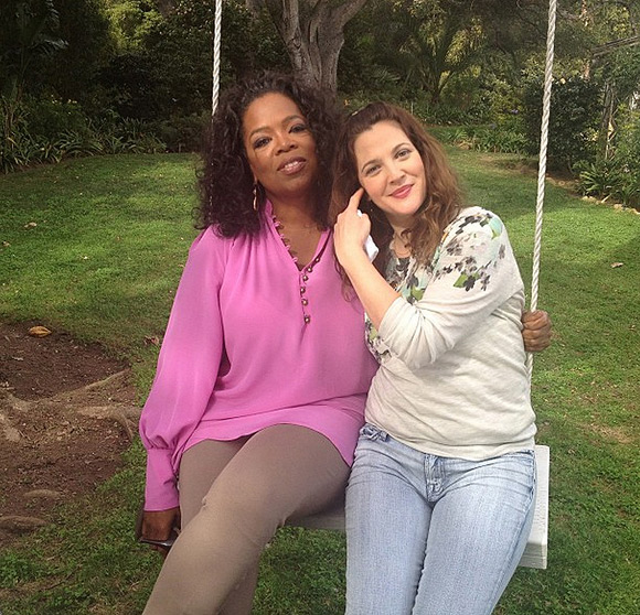 Oprah Winfrey with Drew Barrymore