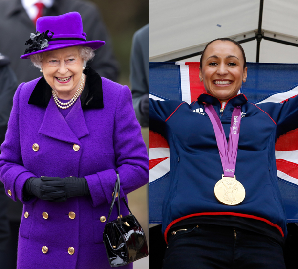 The Queen and Jessica Ennis