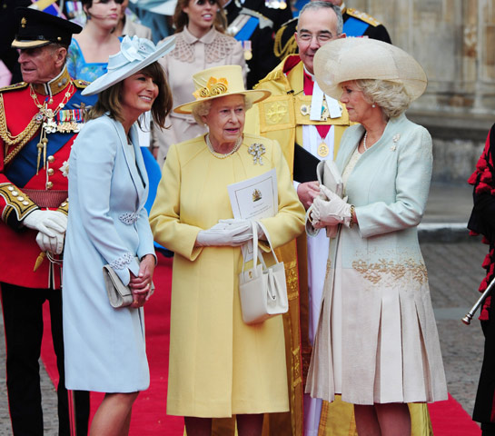 Carole Middleton and Queen