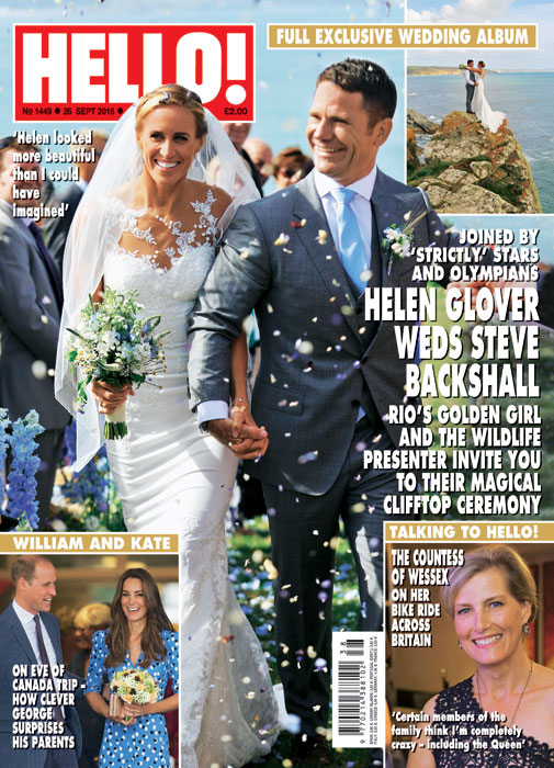 Hello magazine front cover Steve Backshall Helen Glover
