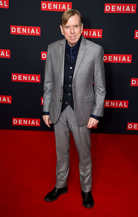 Timothy Spall arrives for a Gala screening of 'Denial' held at the Ham Yard Hotel in London.