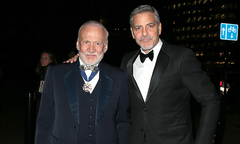 george-clooney-buzz-aldrin-omega-party
