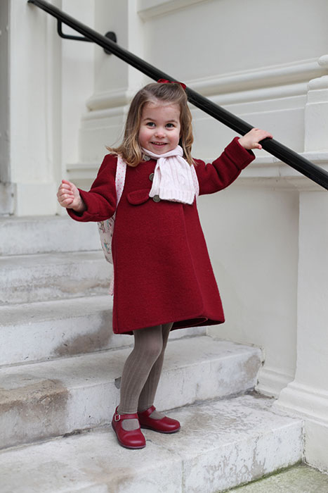 princess charlotte first day of nursery