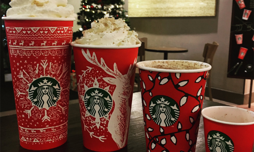 the starbucks christmas red cups are back see the range - Starbuck Christmas Cups