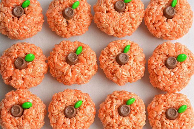 8-rice-krispie-treat-pumpkins