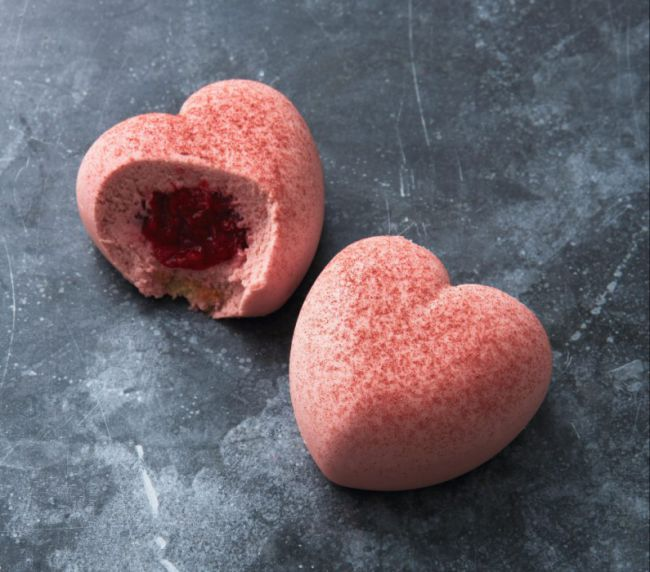 Waitrose valentines day heart dessert