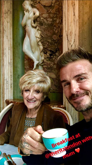 David Beckham mum The Ritz