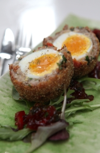 Chorizo scotch egg