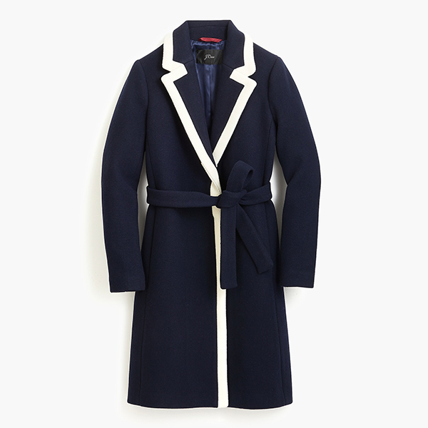Loved Meghan Markle's Navy And White Coat From J. Crew