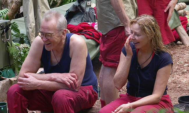 Larry Lamb and Carol Vorderman ready to leave I'm A Celebrity jungle