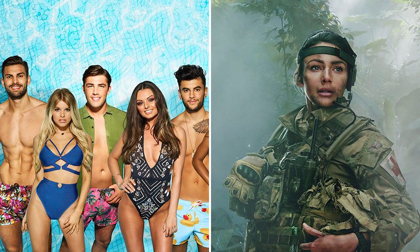 Love Island and Our Girl promo stills