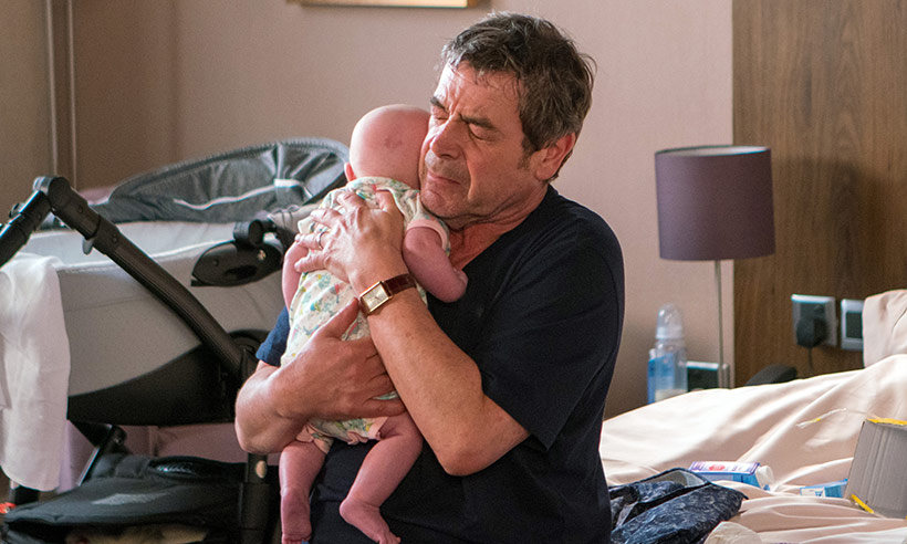 Coronation Street's Johnny with baby Susie