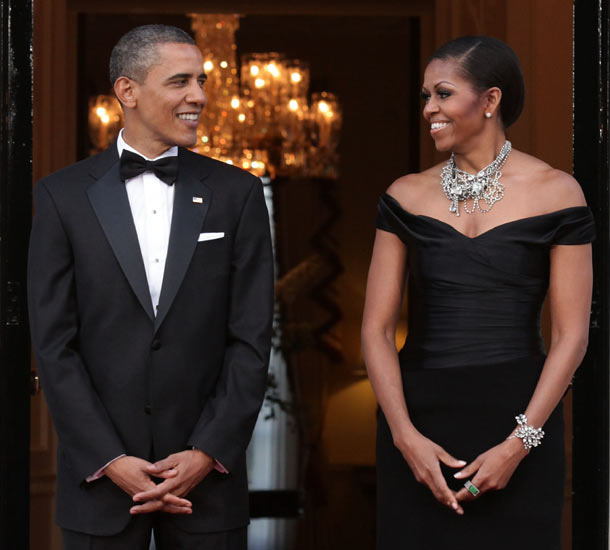 President Barack Obama & the first lady Michelle Obama