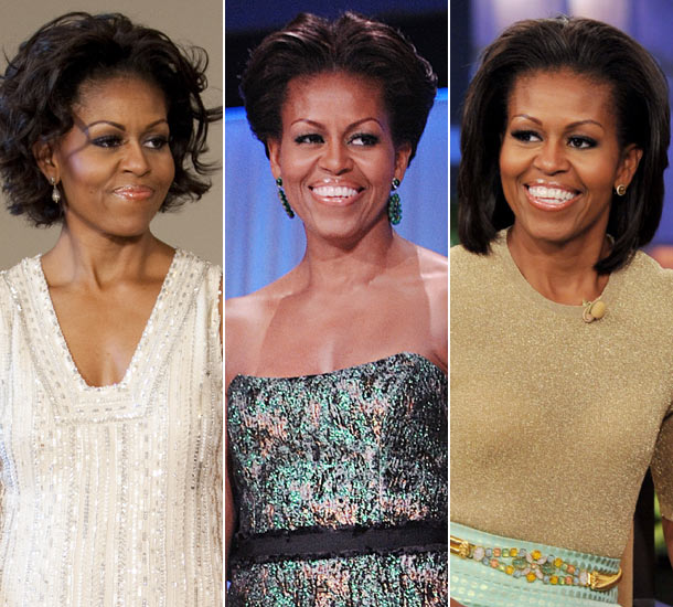 First Lady Michelle Obama, hair