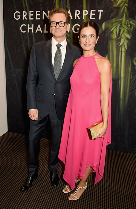 Colin Firth and his wife Livia