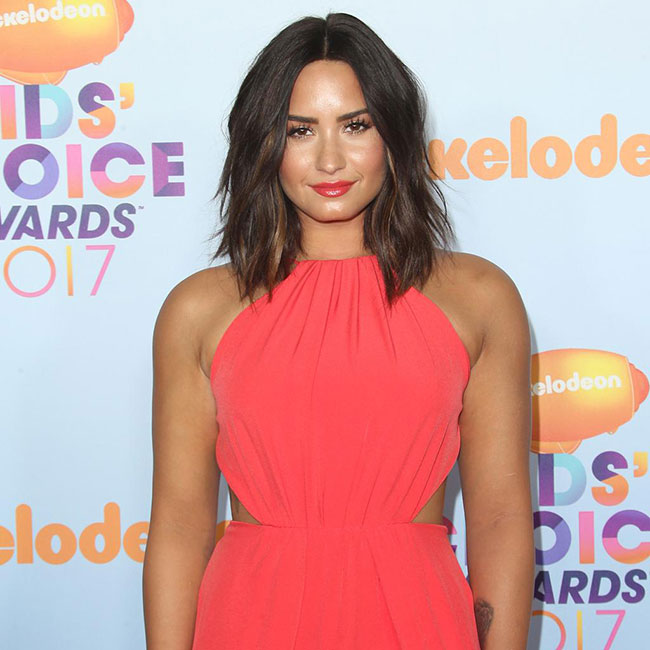Demi's beachy waves are perfect for spring