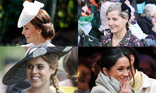 The royal up-do! See the photo gallery